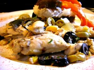 poulet olives - Пилешко с маслини (френска рецепта)
