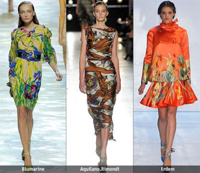 3cvetia - Пролет-лято 2009: Тенденции в десените