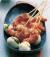 Шишчета от скариди с моцарела и сос от босилек