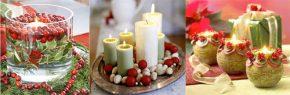 Идеи за коледна украса със свещи