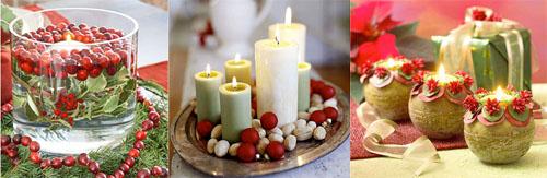 1ks - Идеи за коледна украса със свещи