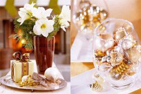 Коледна украса на масата