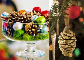 10 идеи за коледна украса от шишарки