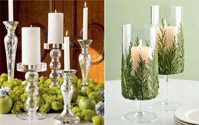 2ks - Идеи за коледна украса със свещи