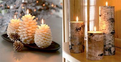 4ks - Идеи за коледна украса със свещи