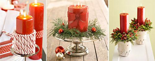 5ks - Идеи за коледна украса със свещи