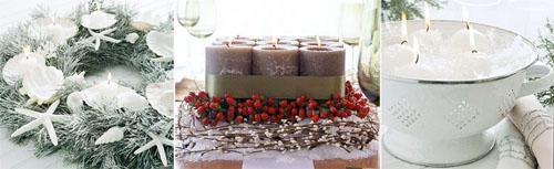 6ks - Идеи за коледна украса със свещи
