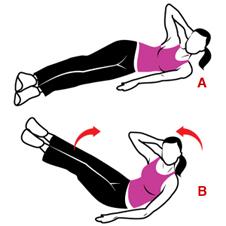 2upr - 15-минутен комплекс упражнения за стегнат корем