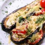 Patladjan sirene domati 150x150 - Печени патладжани със сирене и домати