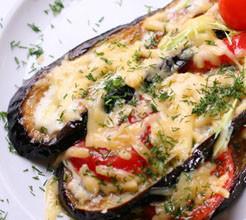 Patladjan sirene domati 246x220 - Печени патладжани със сирене и домати