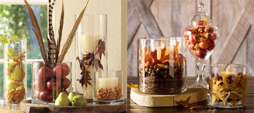 ed01 - Идеи за есенна украса със стъклени съдове