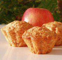 Ябълкови мъфини с орехи и канела