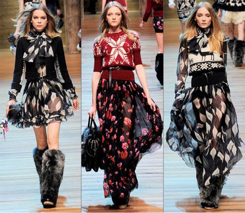 06DG - Колекция есен-зима 2010/11 на D&G Dolce & Gabbana