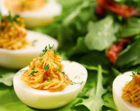 iaica siomga 276x220 - Пълнени яйца с крема сирене и сьомга