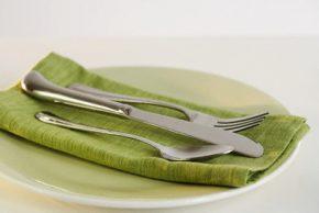 Зелена салата със скариди и цитрусов дресинг