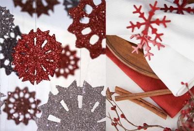 02s - Празнична украса със снежинки