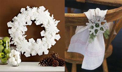 03s - Празнична украса със снежинки
