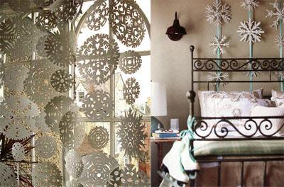 04s - Празнична украса със снежинки