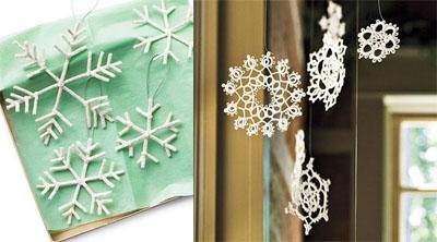 05s - Празнична украса със снежинки