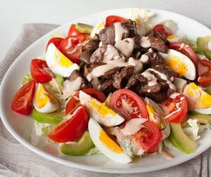 drobcheta - Салата с пилешки дробчета