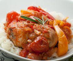 Пиле, запечено със зеленчуци
