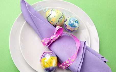 02salfetka - Как да украсите масата за Великден