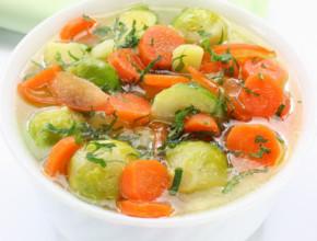supa br zele 290x220 - Зеленчукова супа с брюкселско зеле