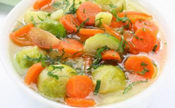supa br zele 348x215 - Зеленчукова супа с брюкселско зеле