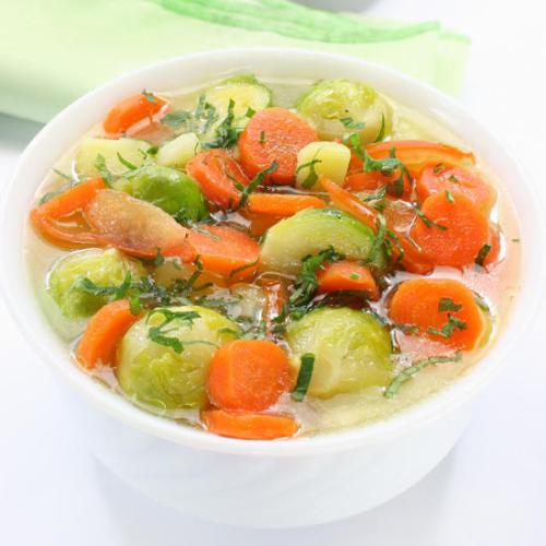 supa br zele 500x500 - Зеленчукова супа с брюкселско зеле